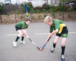 Ballyholme Picture of pupils doing outdoor sports