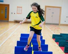 Ballyholme Picture of pupils doing indoor sports